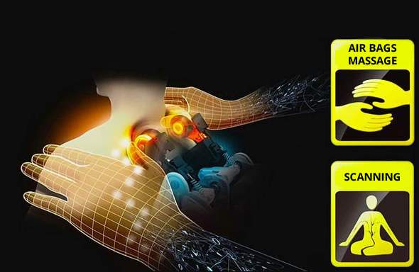 Komoder 4D Luxury Massagesessel Erkennung